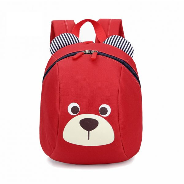 Sac a dos visage d ours rouge