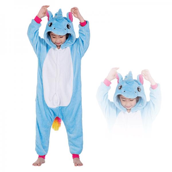 kigurumi pegase bleu enfant main