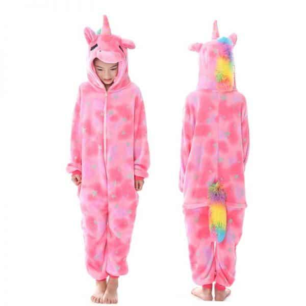 kigurumi pyjama licorne rose