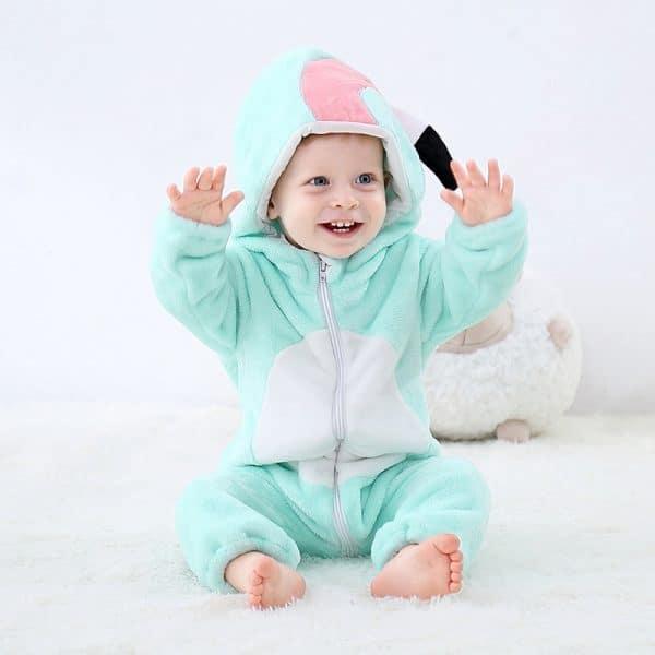 kigurumi flamant bleu bebe