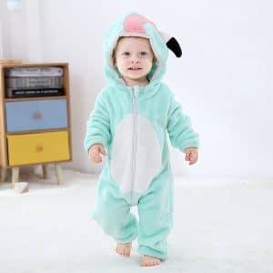 kigurumi flamant bleu bebe2