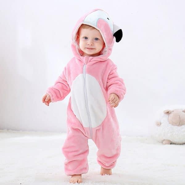 kigurumi flamant rose bebe