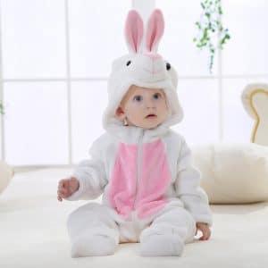 kigurumi lapin blanc bebe
