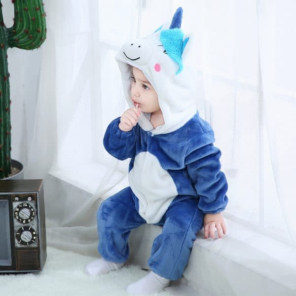 kigurumi licorne bleu bebe