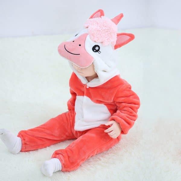 kigurumi licorne rouge bebe2