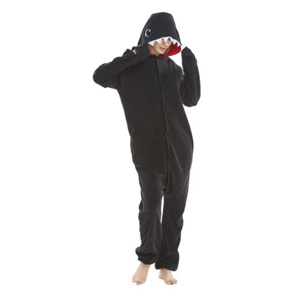 Pyjama Kigurumi requin gris