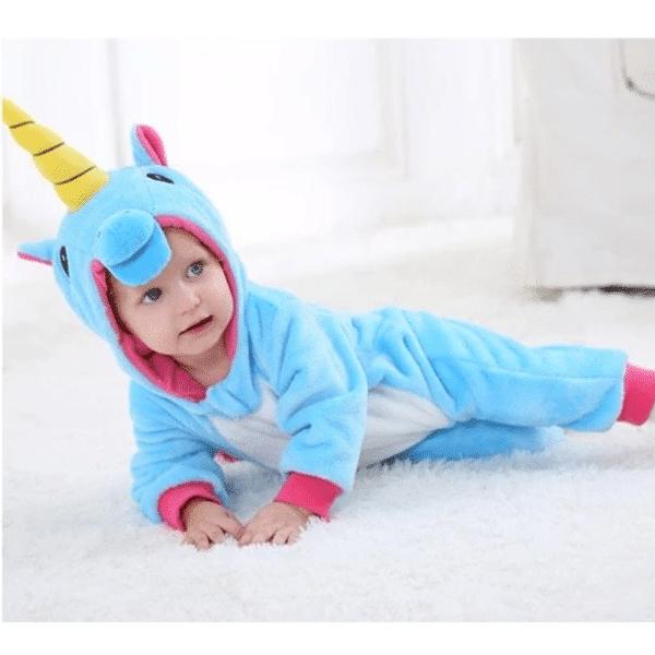 kigurumi licorne bleu bébé 3