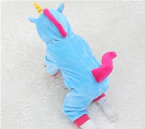 kigurumi licorne bleu bébé 4