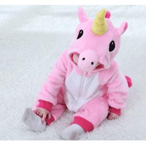 kigurumi licorne rose bébé 6