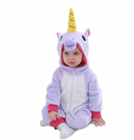 kigurumi licorne violet bébé