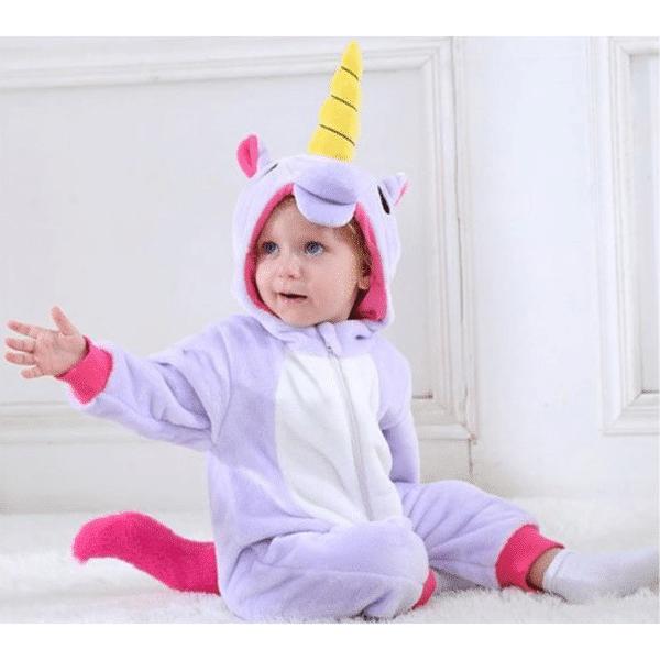 kigurumi licorne violet bébé 3