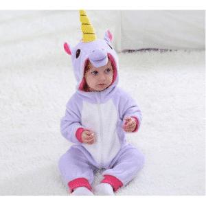 kigurumi licorne violet bébé 4