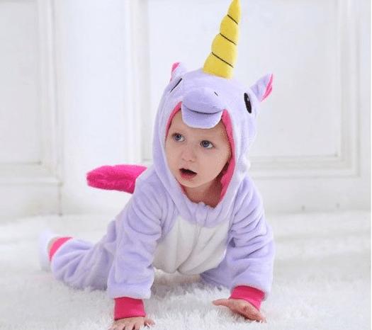 kigurumi licorne violet bébé 5