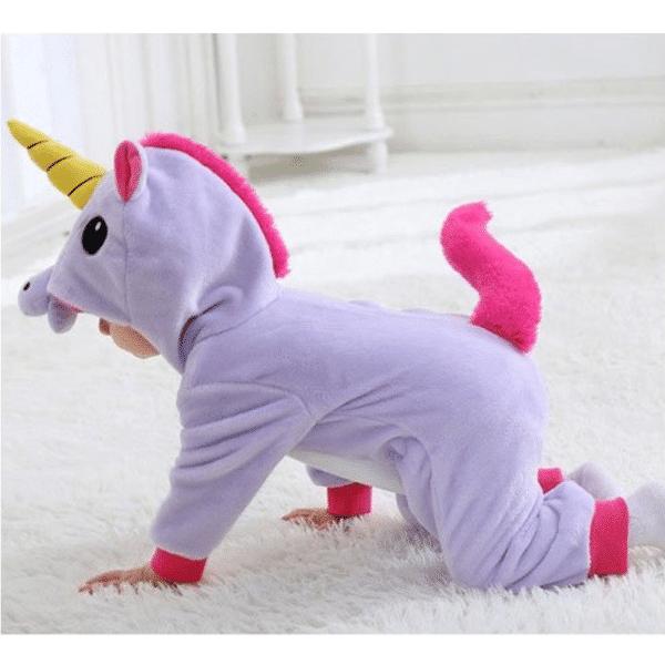 kigurumi licorne violet bébé 6